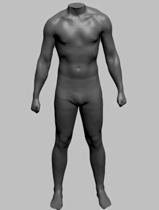3D body scan of a test subject