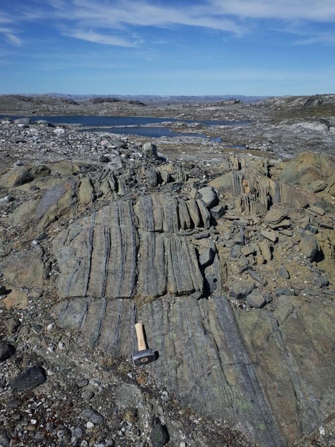 Die Mantelgesteine aus der Grabungsstelle in Grönland sind bis zu 3,8 Milliarden Jahre alt.