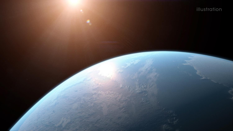 Künstlerische Darstellung des Planeten GJ 357 d.