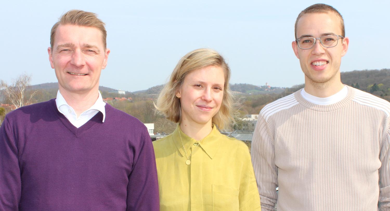 Das Team des Green Office der Universität Göttingen: Marco Lange, Katharina Behringer und Paul Schmidt (von links).