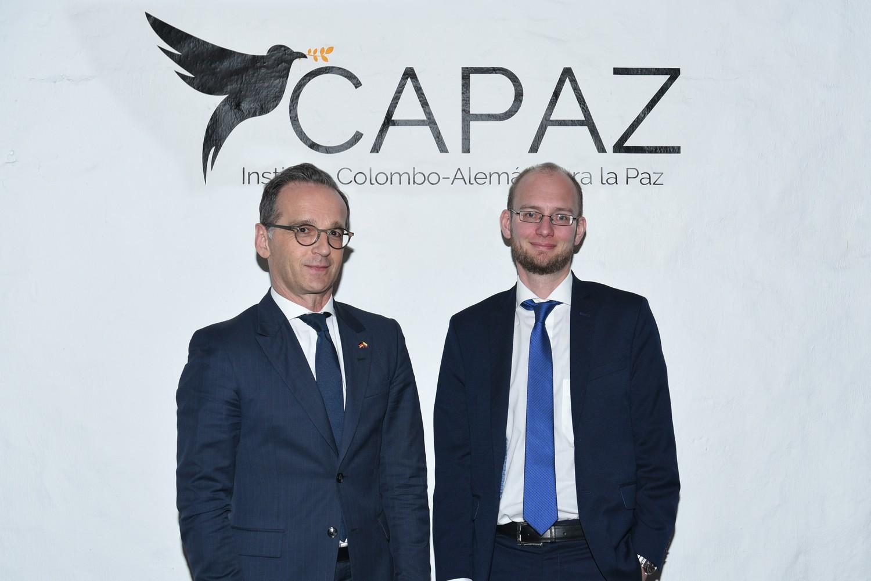 Bundesaußenminister Heiko Maas (links) und CAPAZ-Direktor Prof. Dr. Stefan Peters, Universität Gießen.