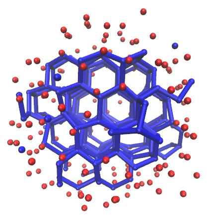 Knapp 100 Wassermoleküle sind nötig, um einen Eiskristall in seiner kleinstmöglichen Ausprägung zu formen. Meist bilden sich Mischungen aus flüssig-amorphen und kristallinen Clustern.