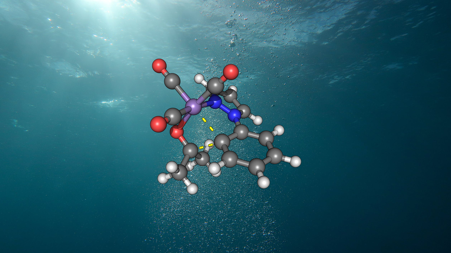 Structure of the active manganese catalyst in water.