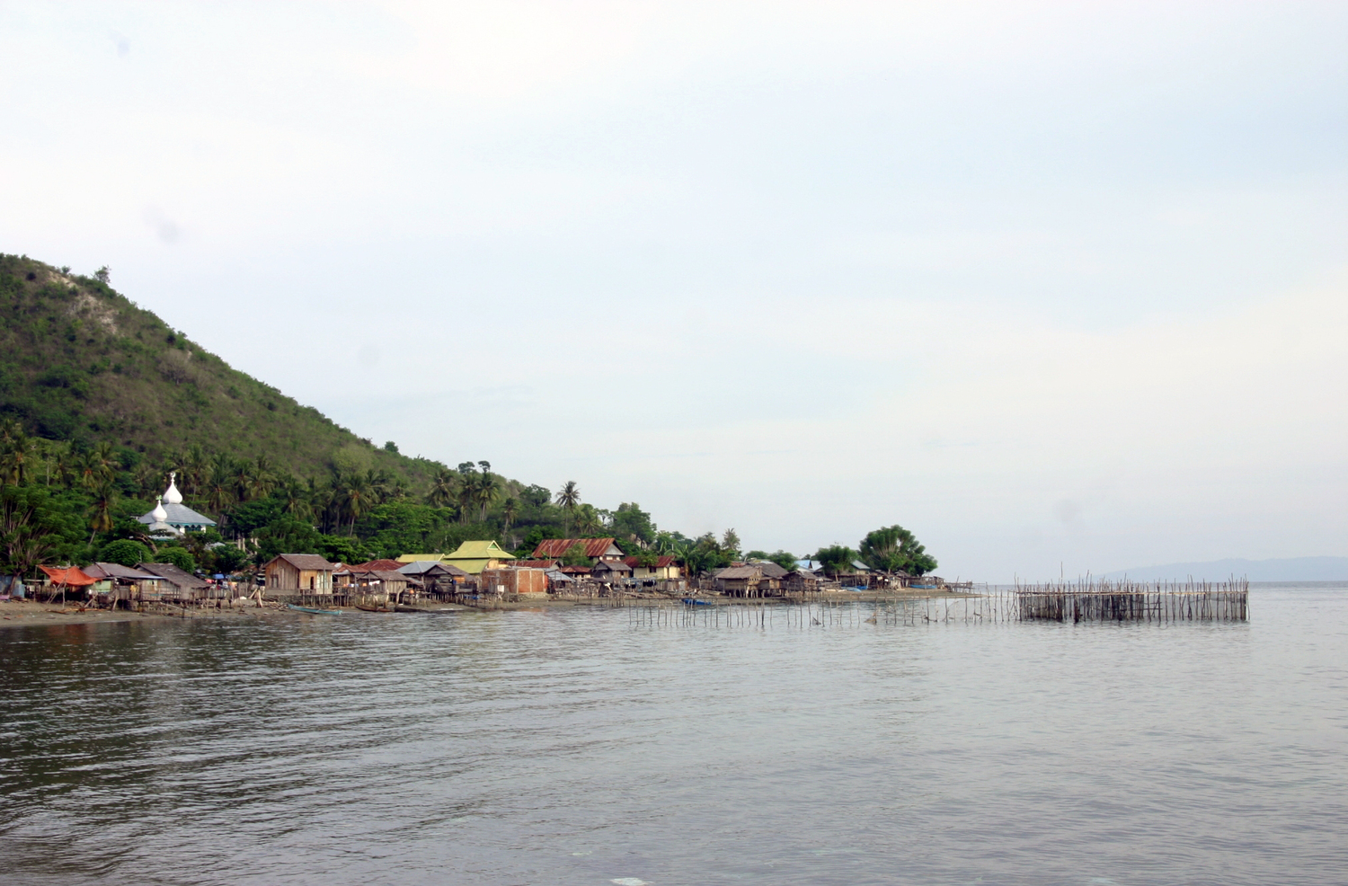 A coastal community in Donggala near Palu. Areas like this will benefit from mangrove and coral reef restoration for coastal hazard protection.