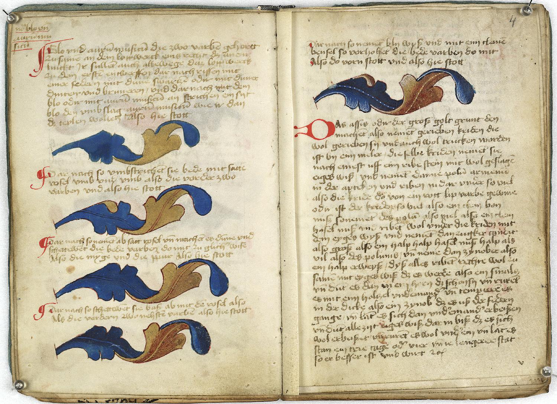 Das Musterbuch diente als Vorlage für die Ausmalung des Göttinger Exemplars der Gutenbergbibel.