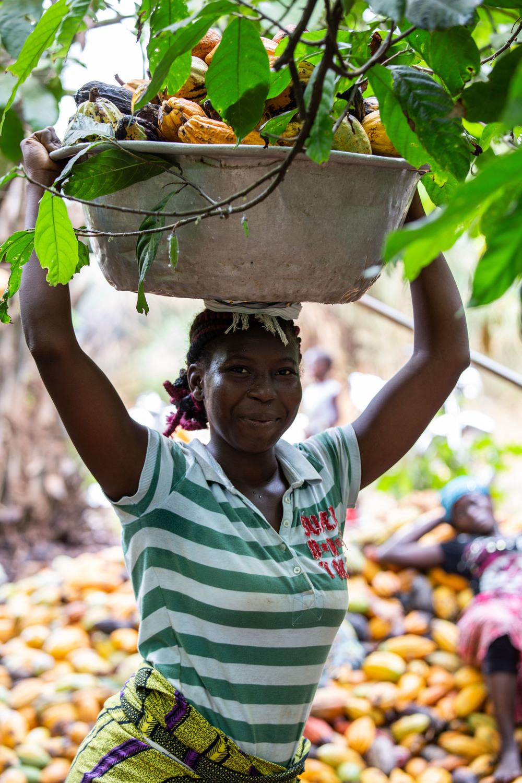 Landarbeiterin im Kakaosektor der Elfenbeinküste