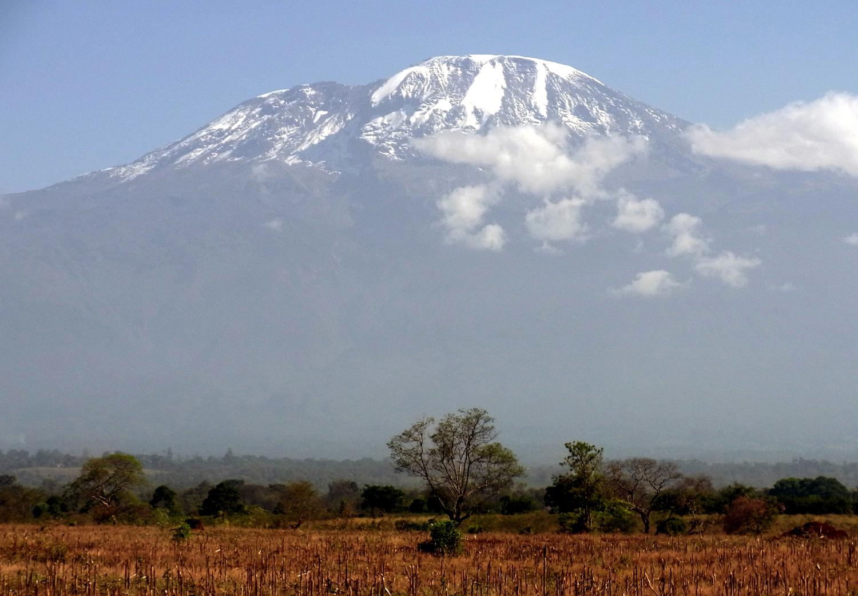 Das Wissenschaftlerteam untersuchte, wie die Landnutzung die Ökosysteme am Kilimandscharo – hier der Blick aus einem Maisfeld in der Savannenzone am Fuß des Berges – beeinflusst.
