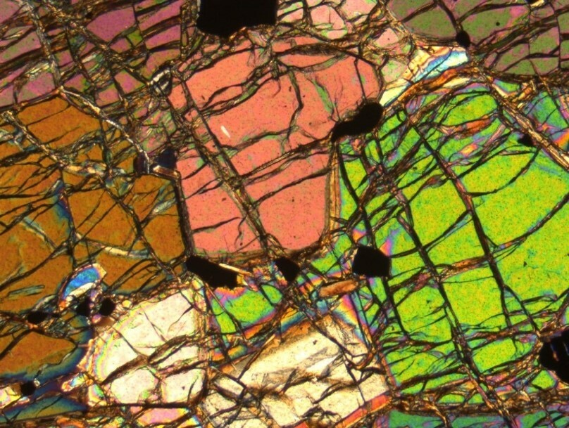 Under the microscope, geologists can examine delicate layers for composition and structure.
