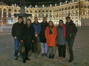 ENLIGHT Network meeting in December 2019 in Bordeaux. From left: Dr Wolfgang Radenbach, Alexandra Schreiber, Dr Esther von Richthofen, Marco Lange, Professor Andrea-Dorothea Bührmann, Chahira Nouira and Professor Hiltraud Casper-Hehne.