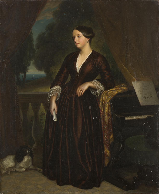 Carl Oesterley, Porträt der Fürstin Zina von Mansurov, 1851. Kunstsammlung der Universität Göttingen.