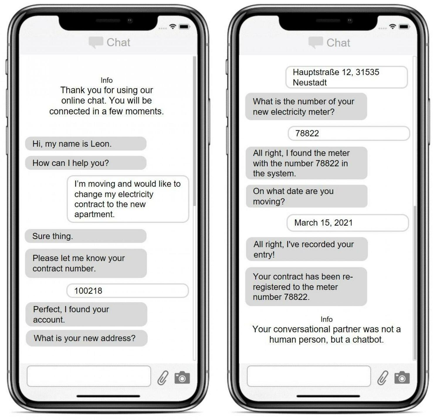 In this research study, the test subjects chatted with a chatbot - but only half of them knew that it was a non-human conversation partner.