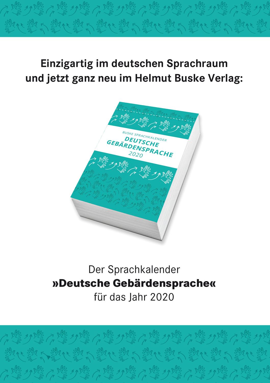 Wissenschaftlerinnen und Wissenschaftler des Gebärdensprachlabors der Universität Göttingen haben den ersten Sprachkalender zur Deutschen Gebärdensprache (DGS) entwickelt.