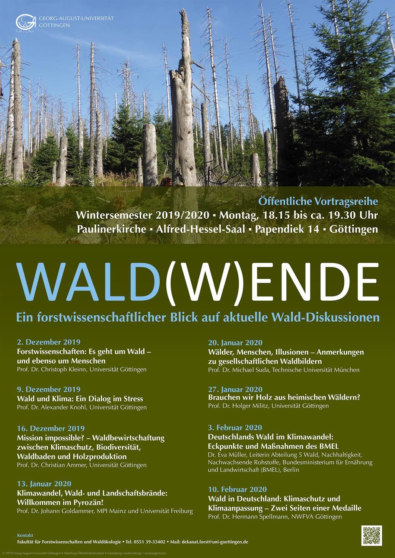 Plakat zur Vortragsreihe Wald(w)ende