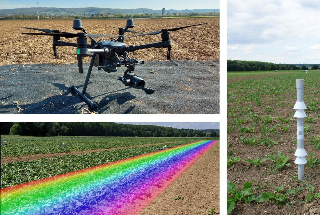 Eingesetzte Sensorik auf dem Experimentierfeld FarmerSpace.