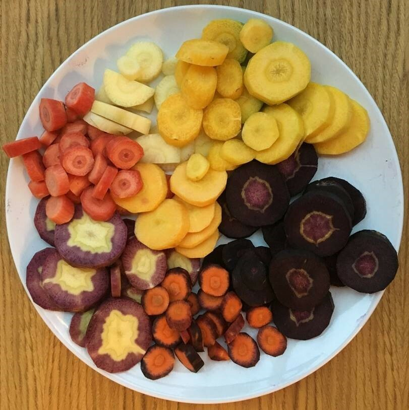 The diversity of many of our everyday foods, such as these carrots, has been forgotten, but is an important building block for resilient agricultural systems.