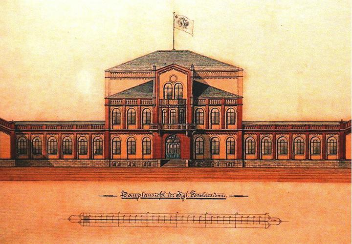 Das ehemalige Gebäude der Forstakademie zu Hannoversch Münden