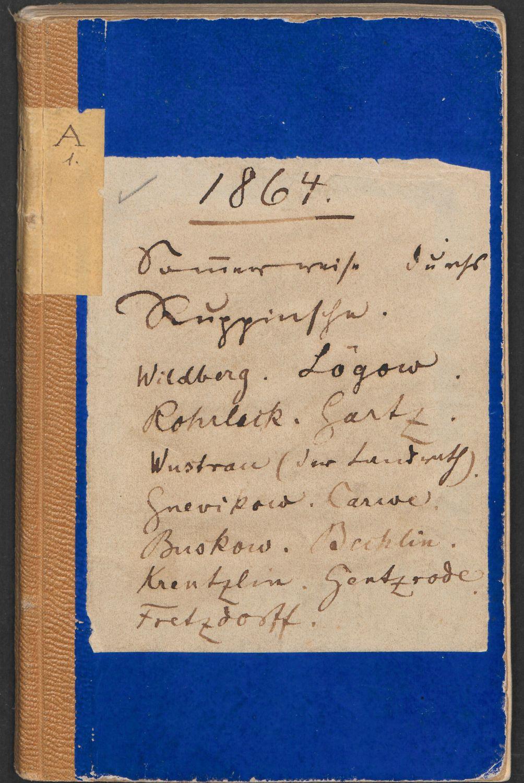 Fontane-Notizbuch A1 (Cover): Sommerreise durchs Ruppinsche 1864