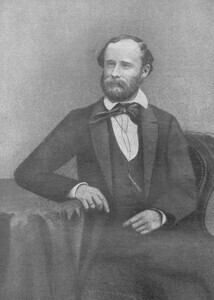 Lagarde (1827-1891) at the beginning of the 1860s, based on a photograph from the Göttingen University Library.