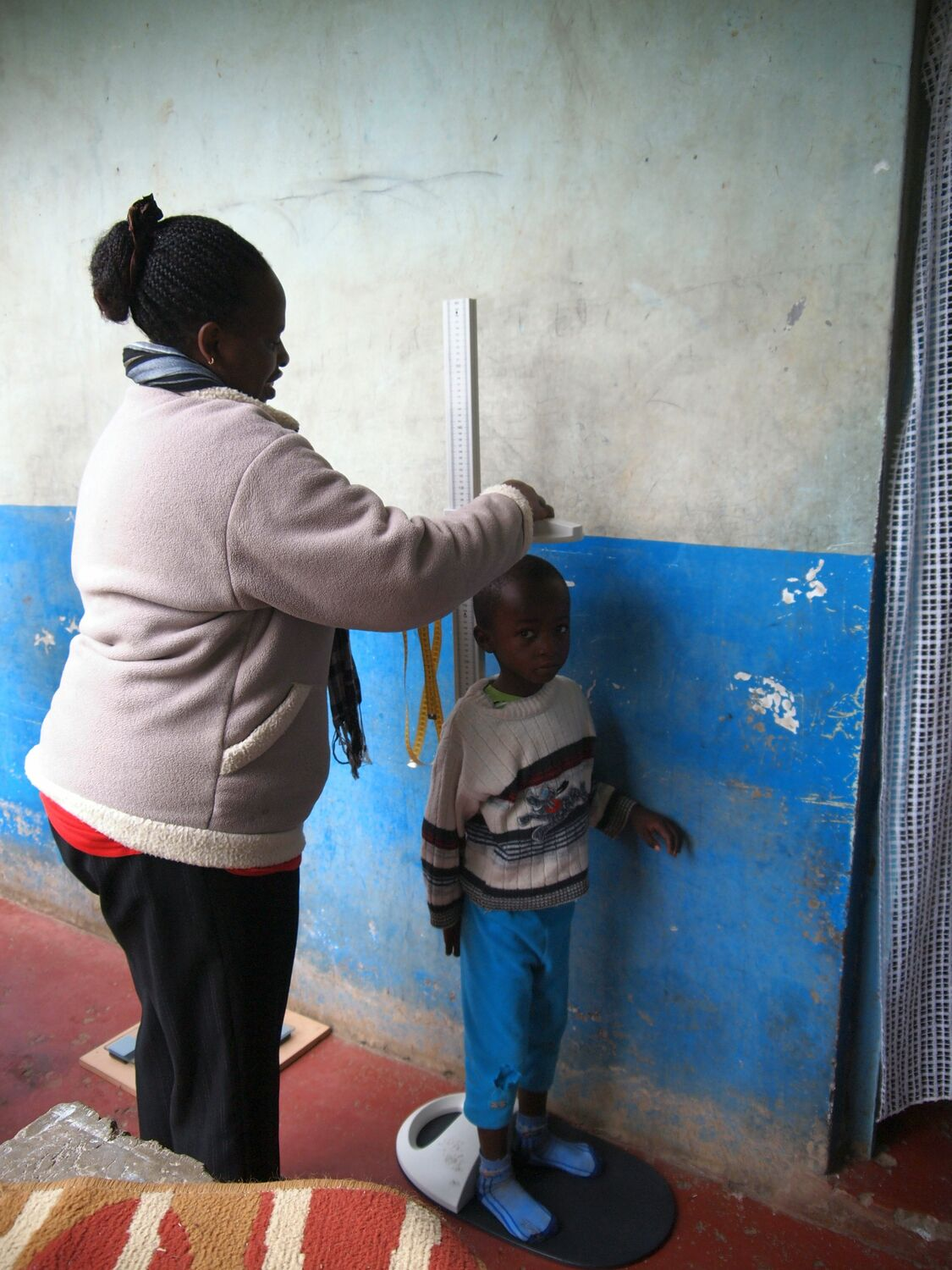 HeightMeasurement: For the research the children were measured and weighed. Photo: K M Demmler