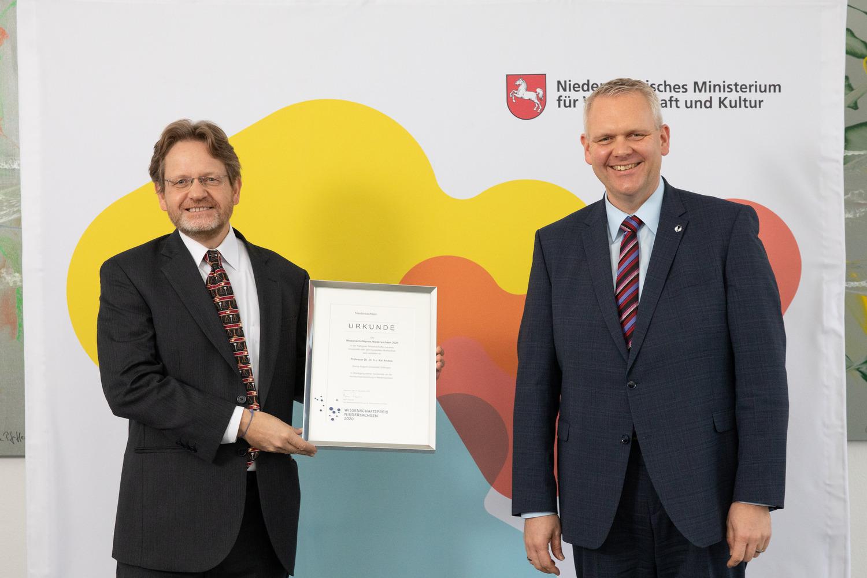 Wissenschaftspreis Niedersachsen 2020 in der Kategegorie