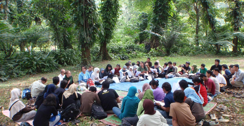 Diskussion mit Kleinbauern