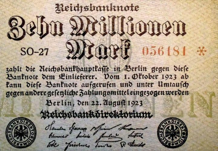 Reichsbanknote von 1923