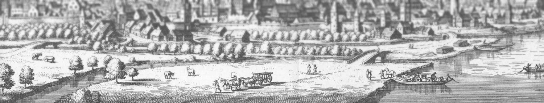 Der Handel war geprägt durch Verkehr auf dem Fluss und auf dem Land.