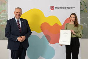 Lower Saxony's Science Prize 2020 in the student category for Katharina Paul who studied German and History at the University of Göttingen
